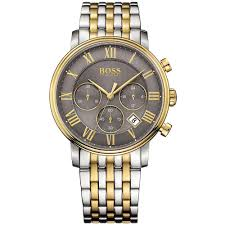 Hugo Boss Two Tone Stainless Steel Chronograph Watch 1513325 - Richard Miles Jewellers