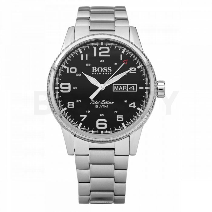 Hugo Boss 1513327 Gents Stainless Steel Silver & Black Watch 44mm - Richard Miles Jewellers