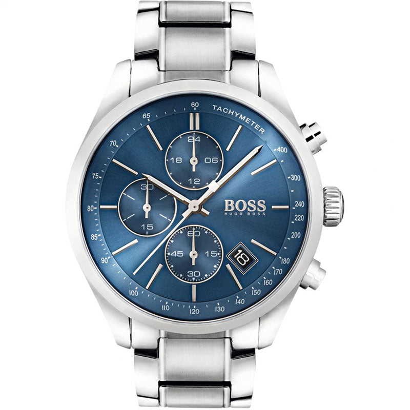 Mens Hugo Boss Grand Prix Chronograph Watch 1513478 - Richard Miles Jewellers