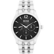 Hugo Boss Stainless Steel Mens 40mm  Silver & Black Watch 1513493 - Richard Miles Jewellers