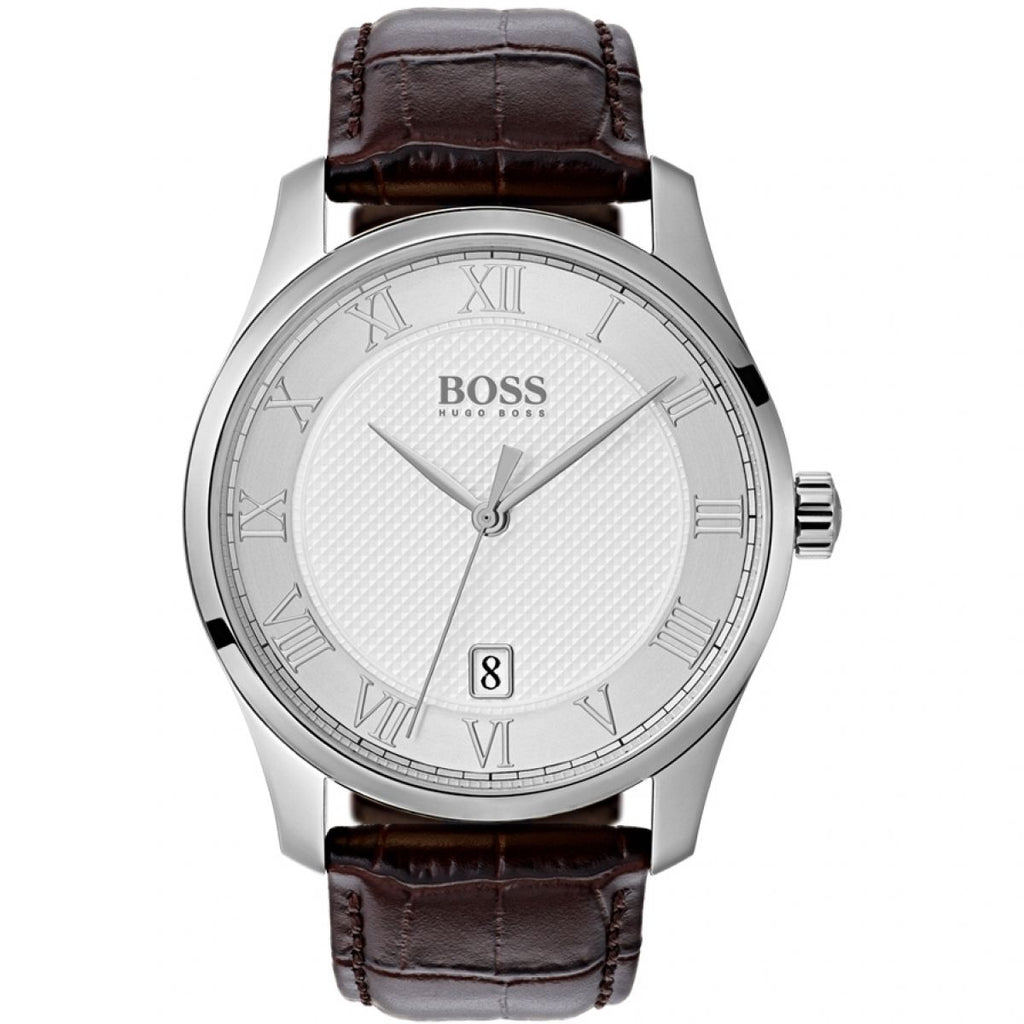 Hugo Boss 1513586 Gents Brown Leather Master Watch - Richard Miles Jewellers