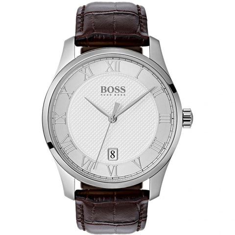 Hugo Boss 1513586 Gents Brown Leather Master Watch