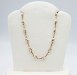 Real Effect Sterling Silver Rose Gold Plated Beads Lightweight Chain 8.3g 25inch - Richard Miles Jewellers