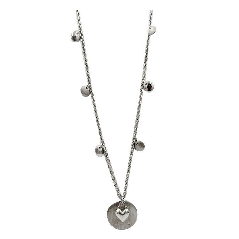 Hot Diamonds Moon Struck Sterling Silver Necklace Matt & Shiny Effect 19inch 17.4g - Richard Miles Jewellers