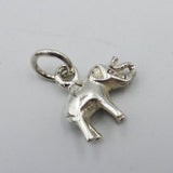 925 Sterling Silver Miniature Elephant Pendant 2.5g - Richard Miles Jewellers