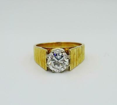 18ct Gold Solitaire 1.00ct E I1 Round Brilliant Diamond Claw Set Ring 6.2g N - Richard Miles Jewellers