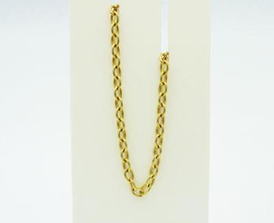 9ct Yellow Gold Quality Simplistic Oval Style Ladies Belcher Chain 16inch 6g 3mm - Richard Miles Jewellers