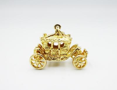9ct Yellow Gold Fancy Royal Carriage Charm Pendant 4.3g 20mm - Richard Miles Jewellers