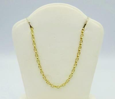 9ct Yellow Gold Long Fine Oval Link Belcher Chain 6g 24inch 2mm RRP £240 - Richard Miles Jewellers