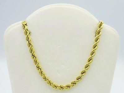 9ct Yellow Gold 375 Hall Marked Fancy Rope Chain 18inch 3.8g 3mm RRP £160