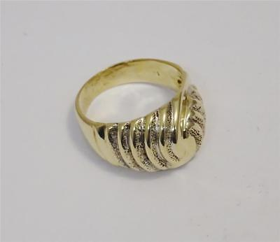 14ct Yellow Gold Fancy Swirl Ladies Ring Size O 6.7g - Richard Miles Jewellers