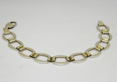 Sterling Silver 925 Ladies Cable Chain Bracelet 7.5inch 20.3g 13mm