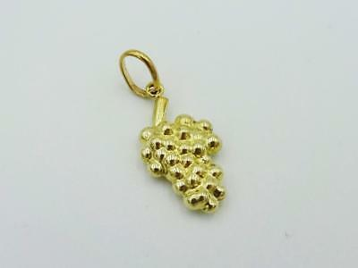 9ct Yellow Gold 375 Stamped Detailed Grape Pendant/Charm 19mm x 16mm 1g - Richard Miles Jewellers