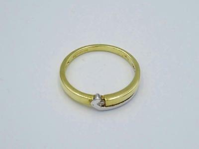 9ct Gold Two Colour Gold Ladies Fancy Diamond 0.02ct Set Ring Size M - Richard Miles Jewellers