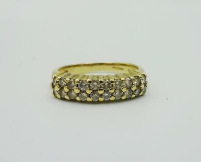 18ct Gold Double 4mm Eternity 0.50ct Diamond Colour H Ladies Ring Size K 3.9g