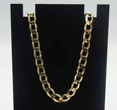 9ct Yellow Gold Men's Quality Oval Linked Curb Chain 20inch 19.6g 6.5mm RRP £790 - Richard Miles Jewellers