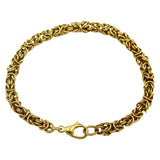 9ct Yellow Gold Fancy Quality Intricate Byzantine Bracelet 7.5inch 12.9g - Richard Miles Jewellers