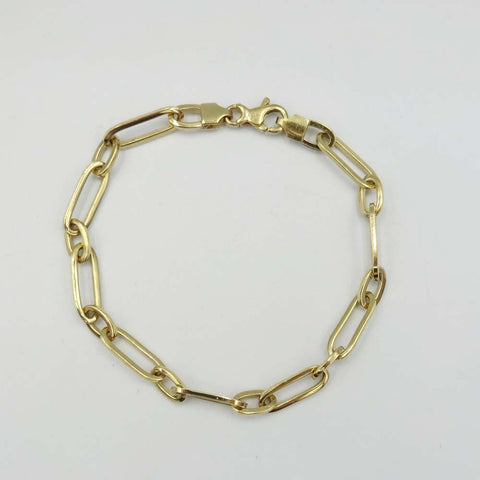 9ct Yellow Gold Wide Chain Link Bracelet