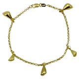 9ct Gold Fancy Ladies Matt Shiny Quality Bracelet 7.25inch 3.8g