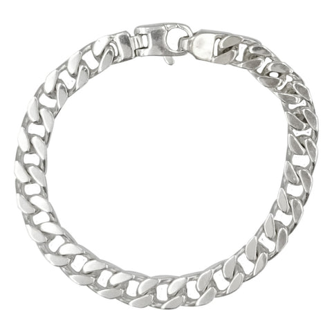 Sterling Silver 925 Stamped Men's Curb Style Bracelet 7.75inch 26g