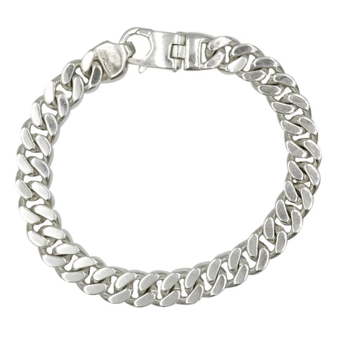 Sterling Silver 925 Stamped Curb Style Men's Bracelet 7.75inch 35g 8.7mm