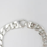 Sterling Silver 925 Stamped Mens Heavy Weight Curb Style Bracelet 56.7g 8.25inch - Richard Miles Jewellers