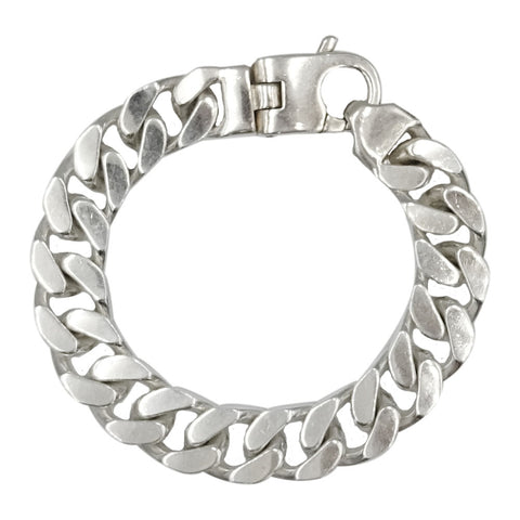 Sterling Silver 925 Stamped Mens Heavy Weight Curb Style Bracelet 72.6g 8inch