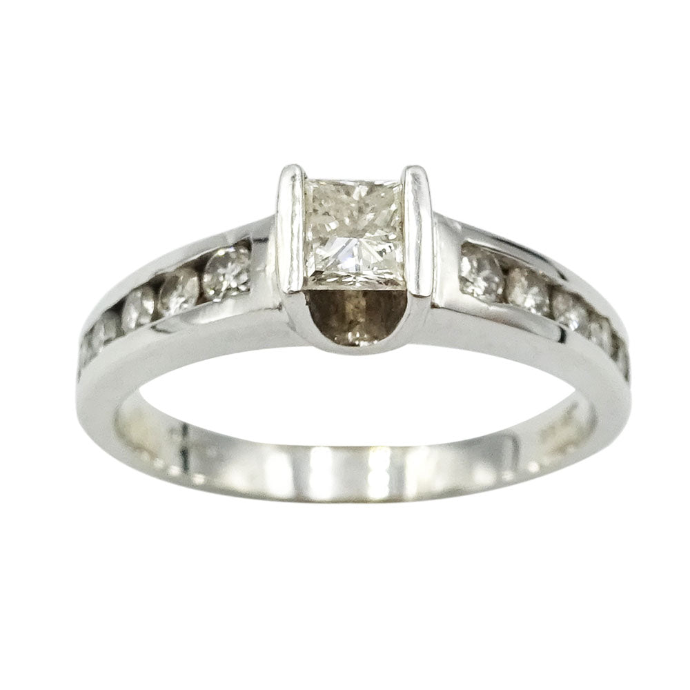 18ct White Gold Diamond Engagement Ring 0.53ct Size L - Richard Miles Jewellers