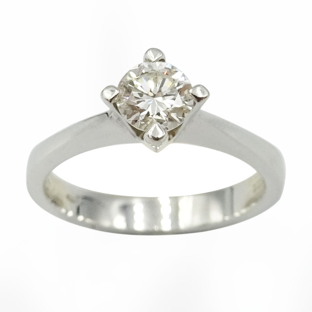 18ct White Gold Diamond Solitaire Engagement Ring 0.50ct - Richard Miles Jewellers