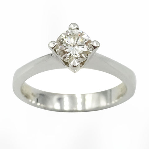 18ct White Gold Diamond Solitaire Engagement Ring 0.50ct Size N - Richard Miles Jewellers