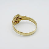 9ct Yellow Gold 375 Diamond Fancy Detailed Knot Ladies Ring Size N 2.2g - Richard Miles Jewellers
