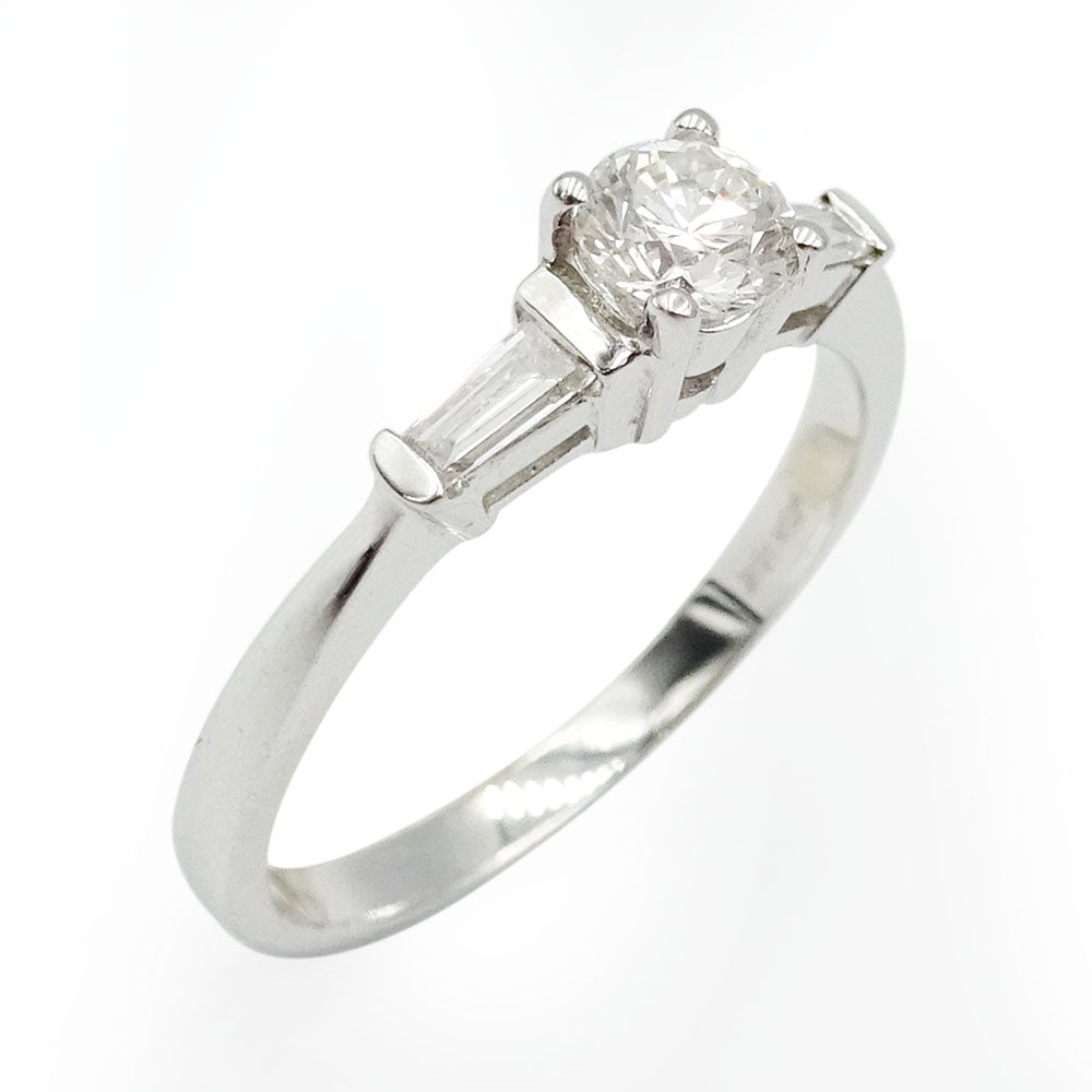 18ct White Gold Diamond Baguette Engagement Ring 0.50ct - Richard Miles Jewellers