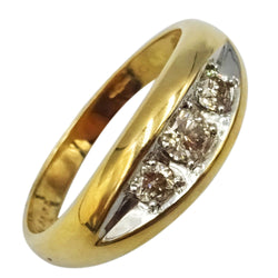 9ct Yellow Gold 375 UK Hall Marked 0.55ct Diamond Claw Set Ring Size Size T 4.2g - Richard Miles Jewellers