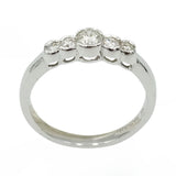 18ct White Gold Rubover 5 Stone Half Eternity Ring 0.50ct - Richard Miles Jewellers