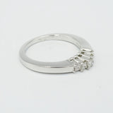 18ct White Gold 5 Stone Diamond Engagement Ring 0.25ct Size M 1/2 - Richard Miles Jewellers