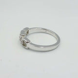 9ct White Gold Chain Link Shape Diamond 0.07ct
