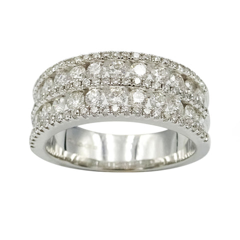 18ct White Gold 5 Row Premium Eternity Diamond Ring 1.16ct - Richard Miles Jewellers