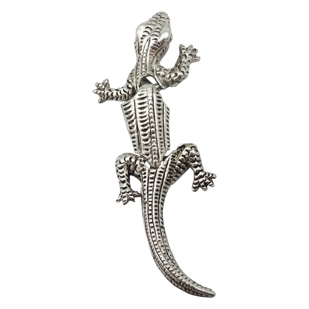 925 Sterling Silver Jointed Lizard Pendant 3.2g - Richard Miles Jewellers