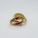 9ct Yellow White Rose Gold 4mm Russian Style Wedding Band Size M 5.8g - Richard Miles Jewellers