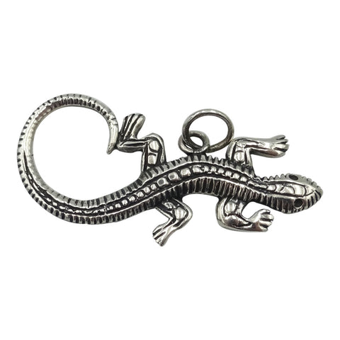 925 Sterling Silver Patterned Lizard Pendant 4.7g - Richard Miles Jewellers