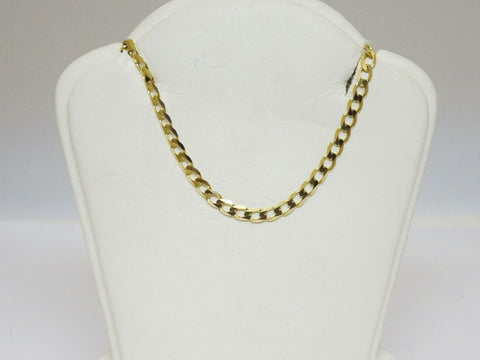 9ct Yellow Gold Curb Chain 3mm 18 inch 4.8g