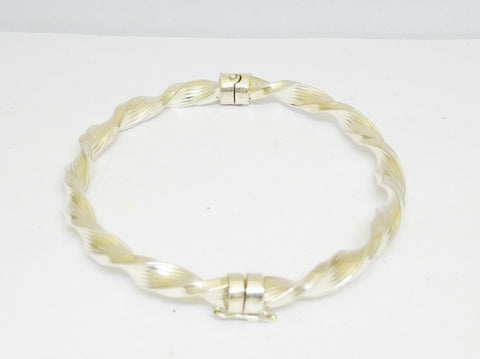 Silver 925 Twist Rope Bangle 7 inch 12.11g 5.25mm - Richard Miles Jewellers
