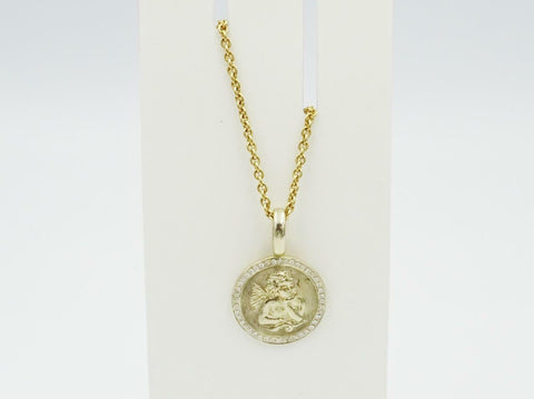 18ct Gold Belcher 0.30ct Diamond Encrusted Border Cupid Chain 20inch 8.7g - Richard Miles Jewellers