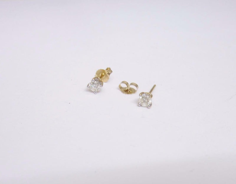 18ct Yellow Gold 4 Claw Set Diamond 0.42ct Stud Earrings RRP £1000 - Richard Miles Jewellers