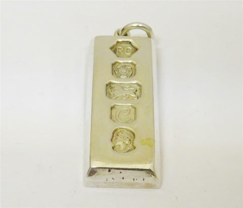 Silver Large Ingot Pendant 30.1g 40mm - Richard Miles Jewellers