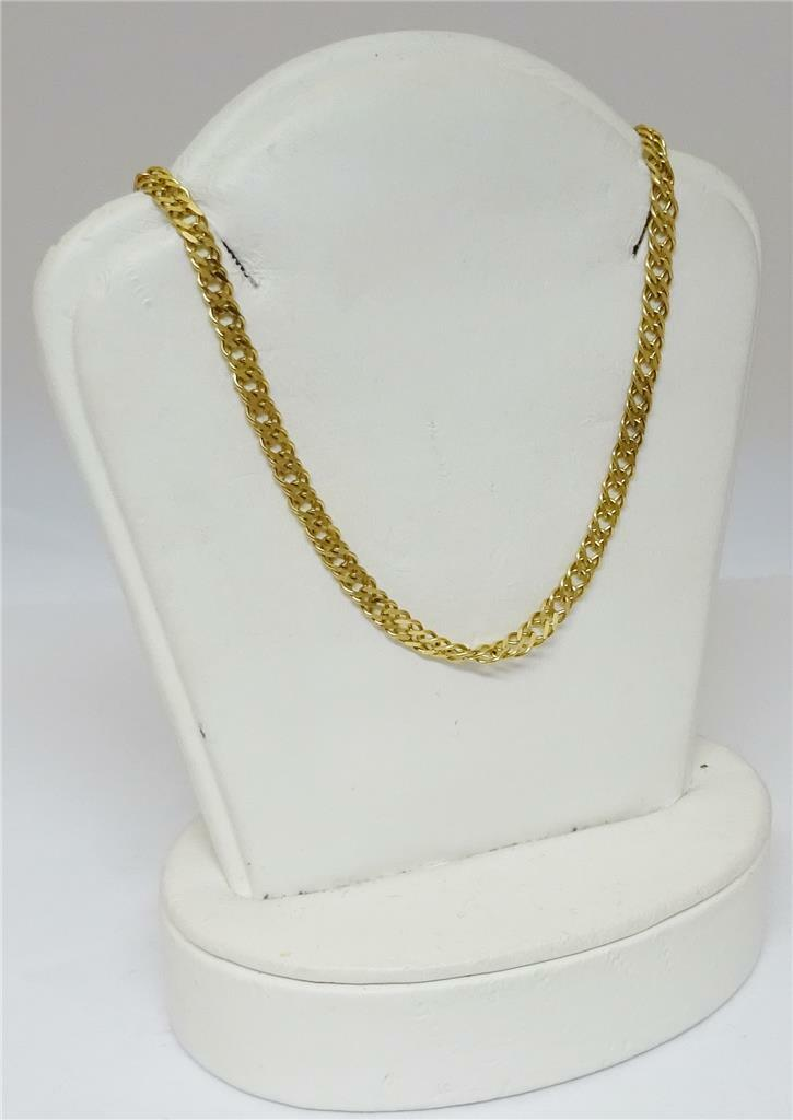 9ct Yellow and White Gold Fancy Chain 12g 18 inches - Richard Miles Jewellers
