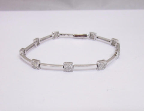 18ct White Gold Pave Set Diamond 0.72ct Ladies Bracelet 7.5 inches RRP £2500