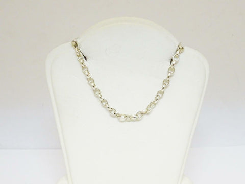 Silver 925 Oval Belcher Chain 24 inch 11.9g 3mm - Richard Miles Jewellers