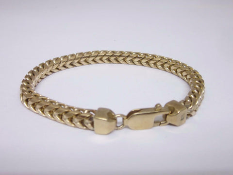 9ct Yellow Gold Ladies Franco Heavy Bracelet 7 inches 27 Grams