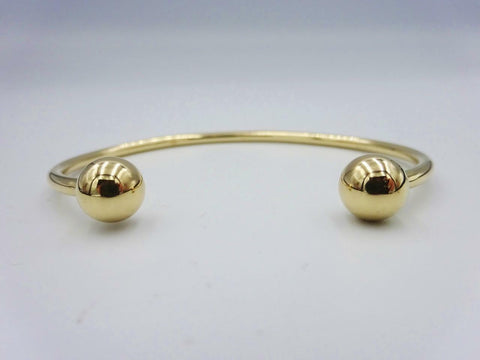 9ct Yellow Gold Solid Plain Torque Bangle 9.2g 6 Inch 2.48mm - Richard Miles Jewellers